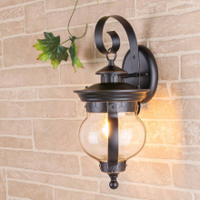 Уличный настенный светильник Elektrostandard Barrel D черное золото GL 1025D 4690389122040