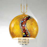 Подвесной светильник Kolarz Luna Kiss 0392.31+1XL.3.Ki.Au+0392.SetL/XL.ET