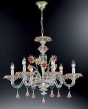 Люстра Vetri Lamp 922/6 Cristallo/Oro 24Kt/Rosso