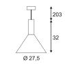 Подвесной светильник SLV Phelia PD-L 133320