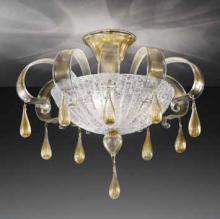 Потолочный светильник Vetri Lamp 1183/PL55 Cristallo/Oro 24 Kt.