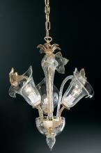 Люстра Vetri Lamp 303/3 Cristallo/Ambra