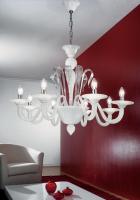 Люстра Vetri Lamp 924/8 Bianco/Cristallo