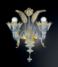 Бра Vetri Lamp 86/A2 Cristallo/Oro 24Kt
