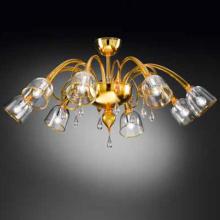 Потолочная люстра Vetri Lamp 1200/8PL Giallo/Cristallo