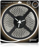 Светодиодная лента Gauss 5M теплый белый 9,6W 3528SMD 120LED/m 311000110