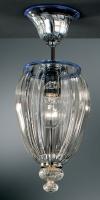 Потолочный светильник Vetri Lamp 1036/17 Cristallo/Blu