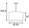 Подвесной светильник SLV Tenora PD-1 156060
