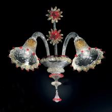 Бра Vetri Lamp 923/A2 Cristallo/Oro 24Kt/Rosso