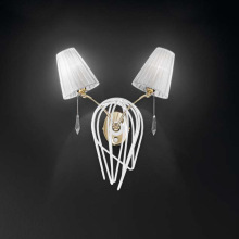 Бра IDL Flame 524/2A white+gold