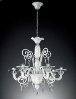Люстра Vetri Lamp 972/6 Bianco/Cristallo