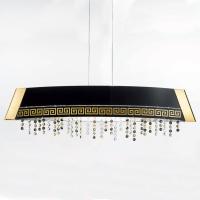 Подвесной светильник Kolarz Celtic Barca 0379.31L.3.Bk+0295.KIT-2L.3.ETGn