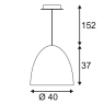 Подвесной светильник SLV Para Cone 40 133070