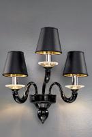 Бра Vetri Lamp 1151/A3 Nero/Cristallo/Nero
