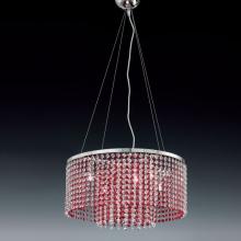 Подвесной светильник Voltolina Sospensione Rainbow rotonda cristallo-rosso