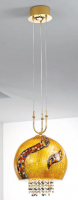 Подвесной светильник Kolarz Luna Kiss 0392.31+1L.3.Ki.Au+0392.SetL/XL.ETGn