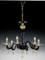 Люстра Vetri Lamp 927/6 Nero/Oro 24Kt