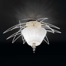 Потолочный светильник IDL Flame 524/5PF white+gold