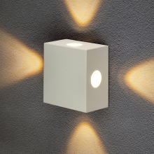 Уличный настенный светодиодный светильник Elektrostandard 1601 Techno LED Kvatra белый 4690389116391