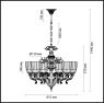Подвесная люстра Odeon Light Capri 3942/6