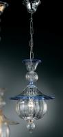 Подвесной светильник Vetri Lamp 1031/28 Cristallo/Blu