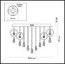 Потолочная светодиодная люстра Odeon Light Orio 4034/99CL