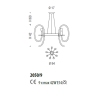 Люстра Sylcom Tron 2050/9 GRY