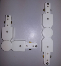 Коннектор поворотный две фазы Elvan 00000013424 Kon R-WH-2Line