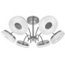Потолочная светодиодная люстра IDLamp Frittelle 107/6PF-LEDWhitechrome