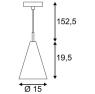 Подвесной светильник SLV Soprana Solid PD-3 155712