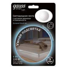 Светодиодная лента Gauss 1,2M холодный белый 5W 311011205
