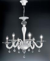 Люстра Vetri Lamp 927/6 Bianco/Cristallo