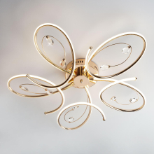 Потолочный светодиодный светильник Eurosvet Saona 90099/5 золото