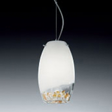Подвесной светильник Voltolina Reflex 15 cristallo-ambra