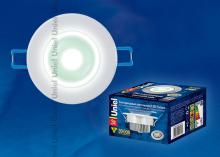 Встраиваемый светодиодный светильник (07683) Uniel ULM-R31-3W/NW IP20 White