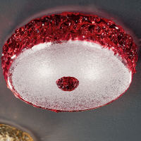 Потолочная лампа Vetri Lamp 999/28 Rosso/Cristallo