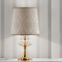 Настольная лампа Masiero Classica Lup TL1 G G02 / DAM/40/IV Swarovski elements