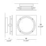 Настенно-потолочный светильник iTRE Mey p-pl 30 0002712