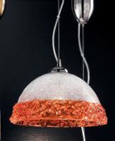 Подвесной светильник Vetri Lamp 1158/32 Cristallo/Arancio