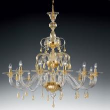 Люстра Vetri Lamp 1184/12 Oro 24 Kt.