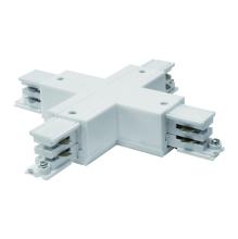 Соединитель для шинопроводов Х-образный (09749) Uniel UBX-A41 Silver