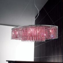 Подвесной светильник Voltolina Sospensione Rainbow ovale cristallo-rosso