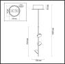 Подвесная светодиодная люстра Odeon Light Verica 4156/9L