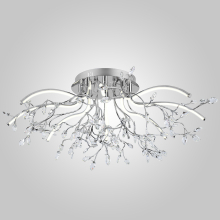 Потолочный светодиодный светильник Eurosvet 90036/8 хром