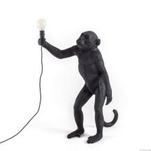 Seletti 14920 standing MONKEY black лампа настольная обезьяна с лампочкой