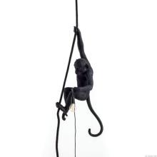 Seletti 14923 Ceiling MONKEY black подвесной светильник обезьяна на канате